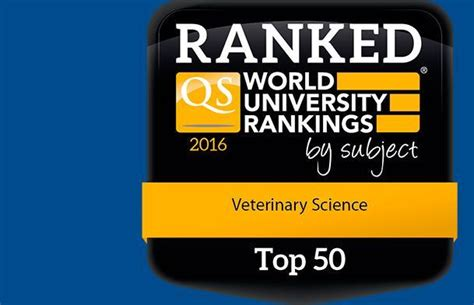 Qs Distance Mba Rankings 2016 by Veterinary Programmes Massey