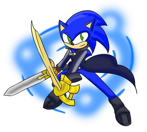 sonic painting free sonic excalibur by xero j on deviantart