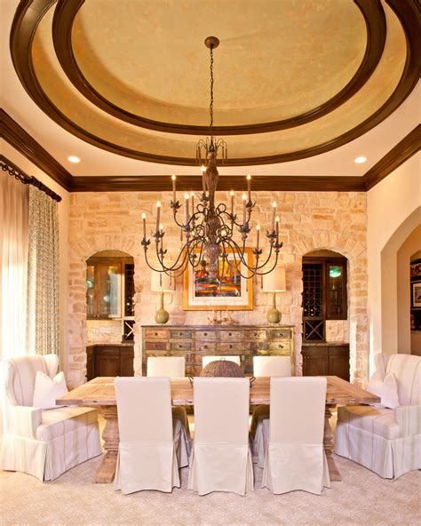 chic wing chair slipcover  dining room mediterranean