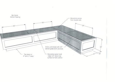 kitchen bench dimensions diy wood breakfast nook bench dimensions plans with