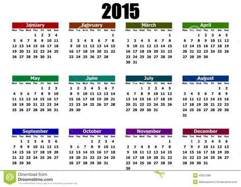 new year 2015 hong kong schedule simple calendar 2015 stock illustration image 40037388