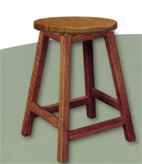 Amish Oak Bar Stools by Amish Scoop Seat Swivel Bar Stool Amish Furniture Mission
