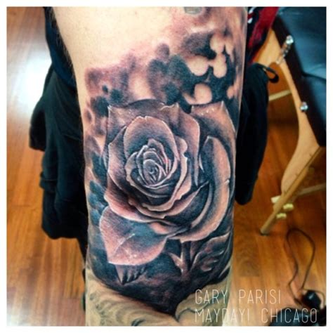 22 beautiful rose elbow tattoos