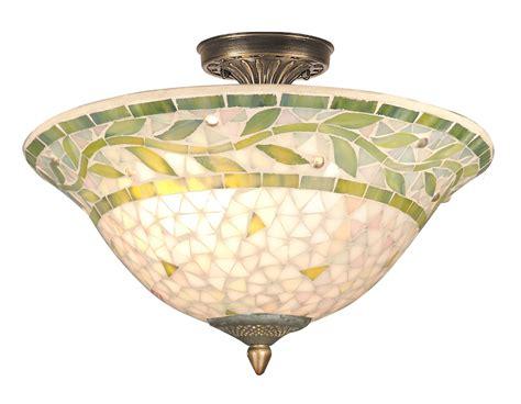 dale th70655 mosaic semi flush mount ceiling light