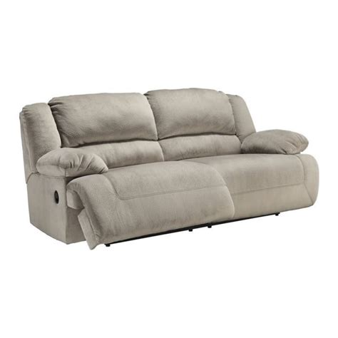ashley furniture reclining sofa reviews ashley furniture toletta fabric reclining sofa in granite