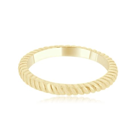 Wedding Bands Kilkenny by 18ct Yellow Gold Rope Wedding Band Vintage Wedding Ring