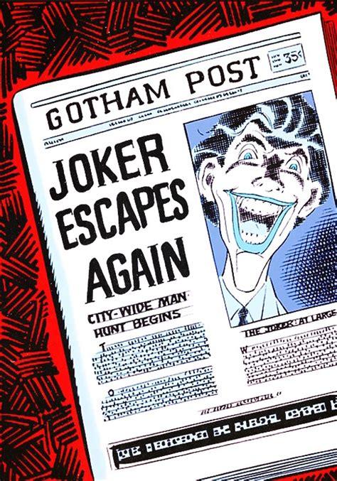 Escapes Again by Joker Escapes Again Comic Books