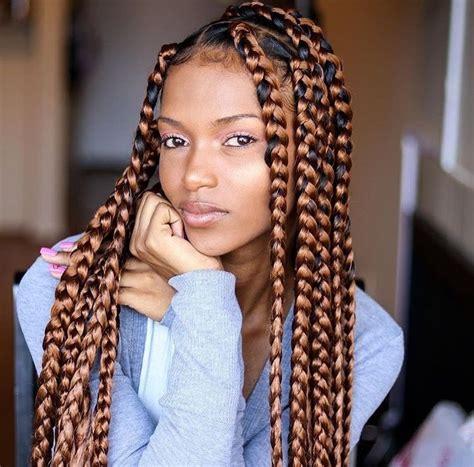 brown box braids brown box braids hair and beauty pinterest brown box