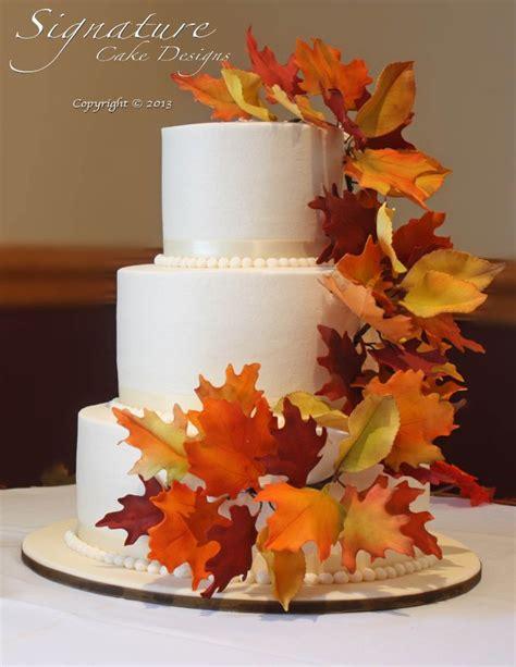 Simple Autumn Wedding Cake by Signature Cake Designs Wedding Cake Olean Ny Allegany Ny