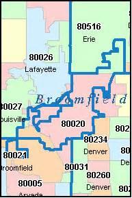 colorado springs zip code map free broomfield county colorado digital zip code map