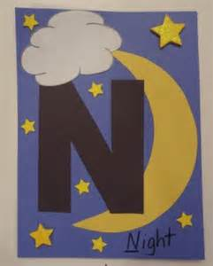 Alphabet And Number Wall Stickers letter n night craft all kids network