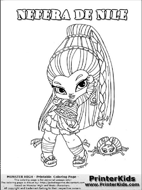 monster high coloring pages printerkids baby monster high coloring pages free printable baby
