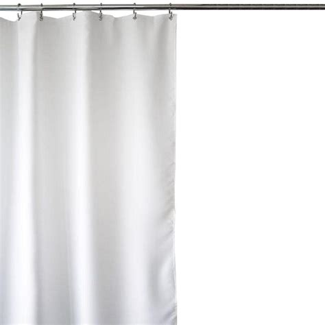 home depot shower curtains home decorators collection weave white 70 in w fabric