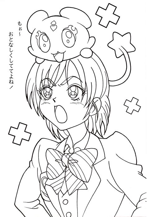 yes precure 5 coloring pages coloring pages