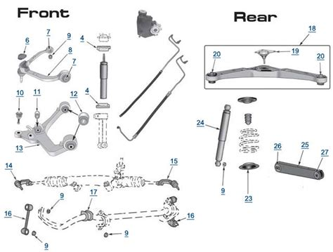 jeep suspension diagram jeep liberty replacement suspension 2004 2005 rear