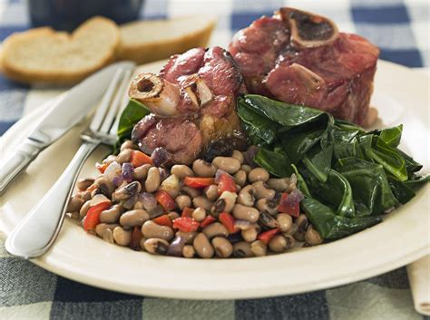 new year s day meal taste of southern taste of southern new year s food tradition black eyed peas and greens