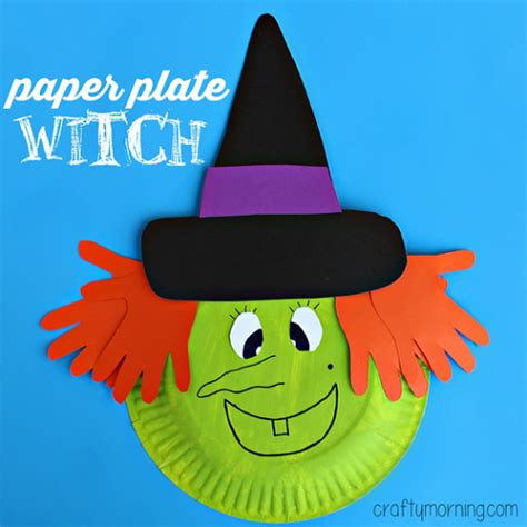 Paper Plate Toddler Crafts - paper plate witch craft for crafty morning