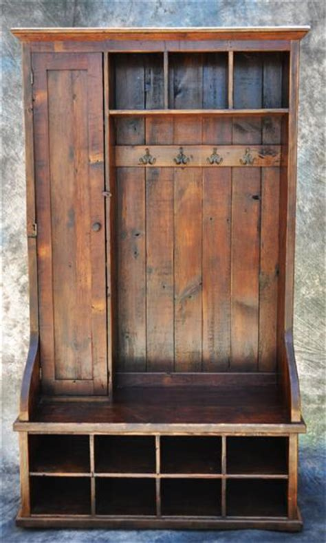 useful finesse cabinet making wood project reclaimed wood mudroom organizer 72 quot