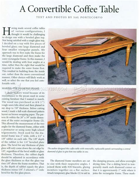 Diy Convertible Coffee Table Convertible Coffee Table Plans Decorative Table Decoration