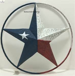 texas flag painted metal star free shipping wall rustic star home decor trend home design and decor