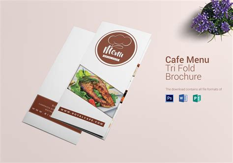 tri fold menu template photoshop restro cafe tri fold brochure menu design template in psd word publisher