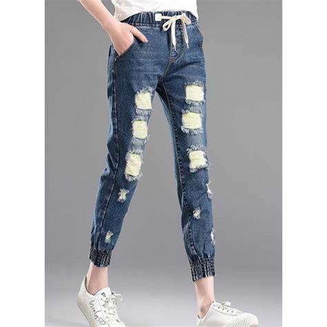 Celana Gambar Denim celana denim sobek t3713 moro fashion