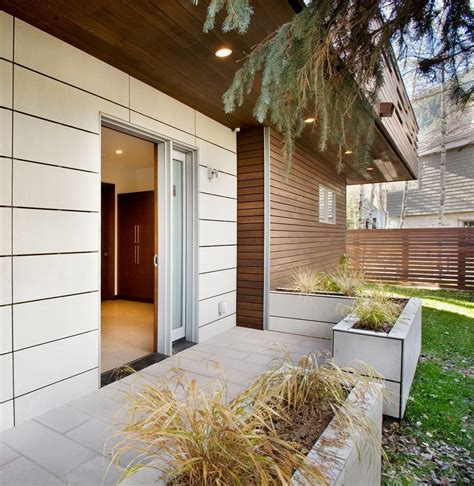 back of small contemporary house in swiss style design