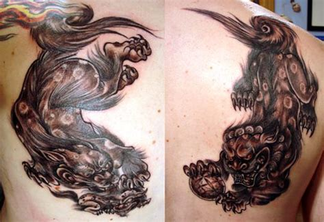 fu dog tattoo meaning fu fu designs