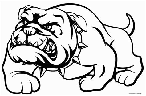 Printable Dog Coloring Pages For Kids Cool2bkids Bulldog Coloring Pages