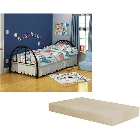 twin beds at walmart brooklyn twin bed with memory foam mattress multiple colors walmart com