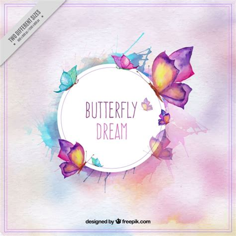 watercolor butterfly vectors   psd files