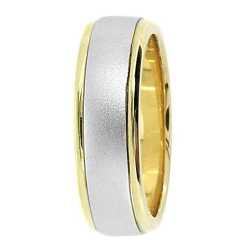 wedding band   tone gold matte comfort fit ring
