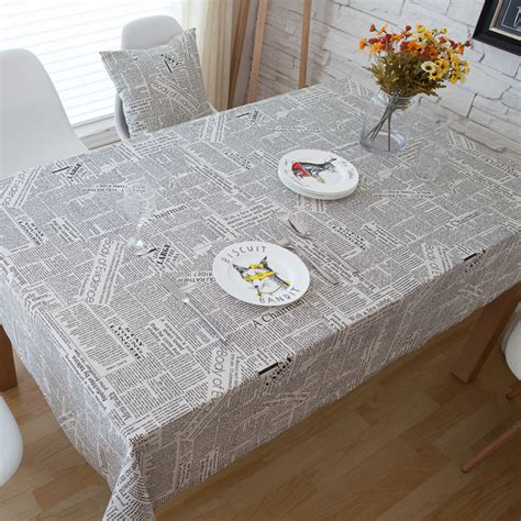 pattern tablecloths vintage rectangle tablecloth newspaper pattern cotton