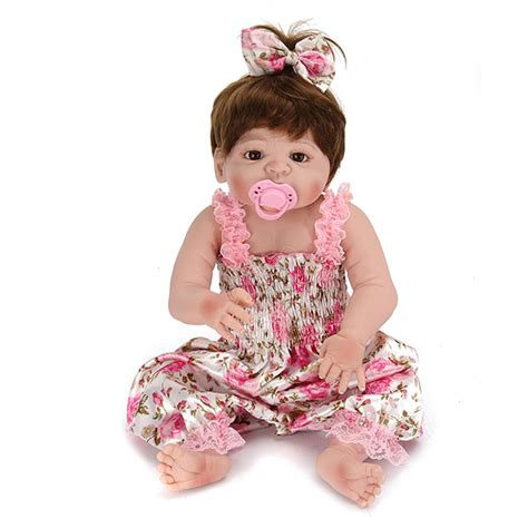 the doll house reborn 22inch reborn baby doll silicone handmade lifelike girl play house toy alex nld