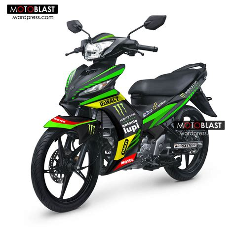 modif striping new jupiter mx ala tech3 motogppake lebaran asik nih