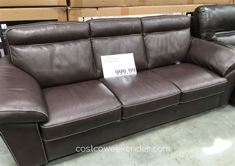 costco sofa leather natuzzi leather sofa costco weekender