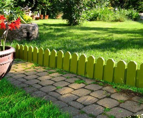 bordura giardino bordura per giardino country in set di 4 colore pistacchio