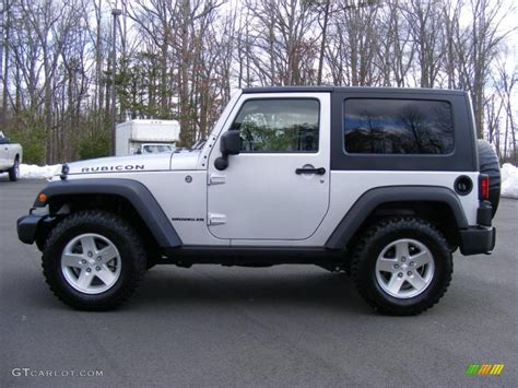 jeep rubicon silver bright silver metallic 2009 jeep wrangler rubicon 4x4