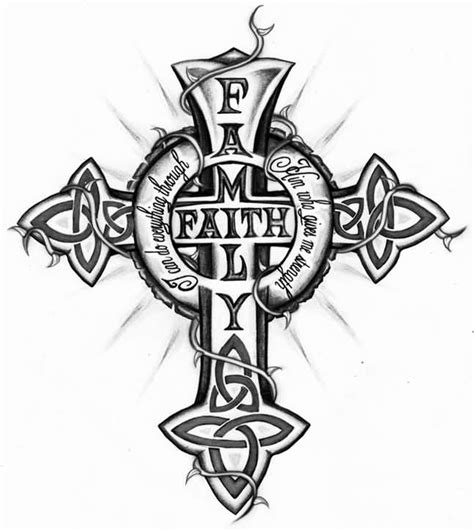 family cross tattoo 5 awesome catholic designs