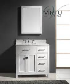 Home gt 36 inch single sink bathroom vanity with sink on the left
