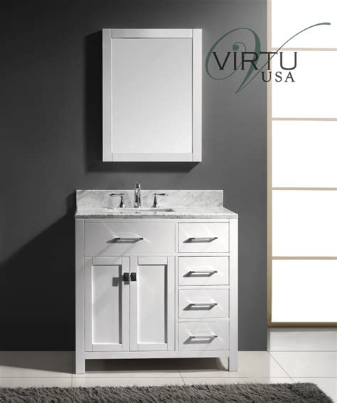 36 Inch Bathroom Vanity Cabinets 36 Inch Single Sink Bathroom Vanity With Sink On The Left Uvvu2136rwmwh37