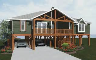 One Story Cabin Plans pier foundations house plans and more