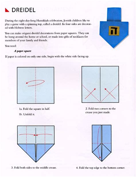 How To Make A Paper Dreidel - origami dreidel ideas origami