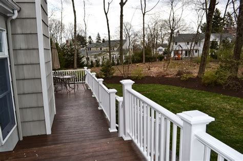 replacing wood deck railing  composite monks home