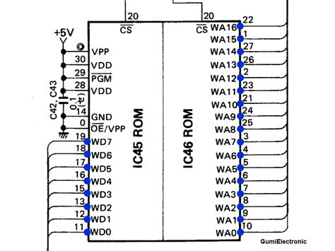 rom circuit diagram rom circuit diagram circuit and schematics diagram