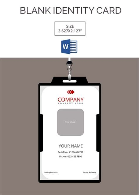 identification card design template 30 blank id card templates free word psd eps formats
