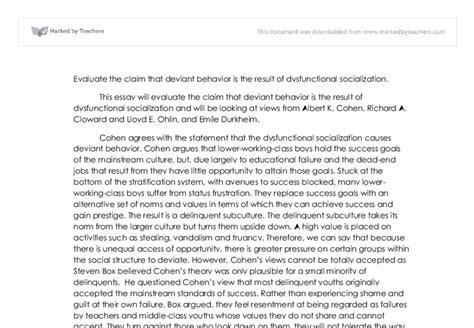 Deviance Essay by Deviance Sociology Essay Ideas