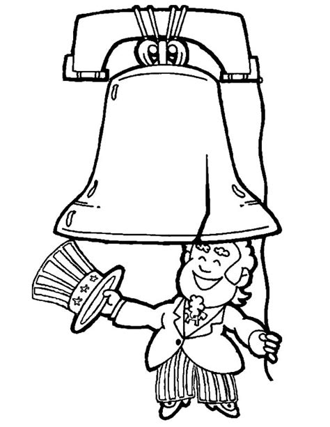 Liberty Bell Coloring Page Printable by Liberty Bell Coloring Page Grig3 Org