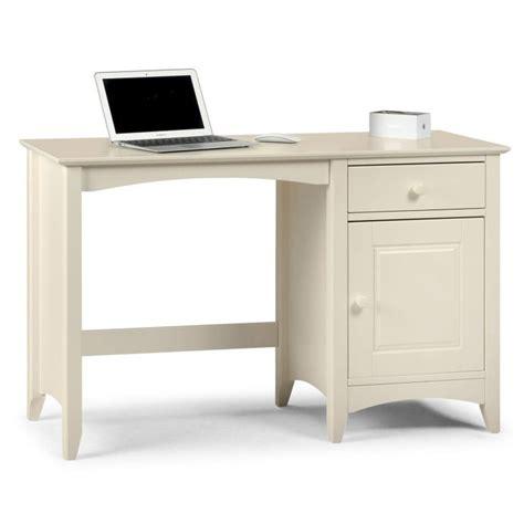 Julian Bowen Cameo Desk In Stone White Furniture123 White Computer Desk Uk