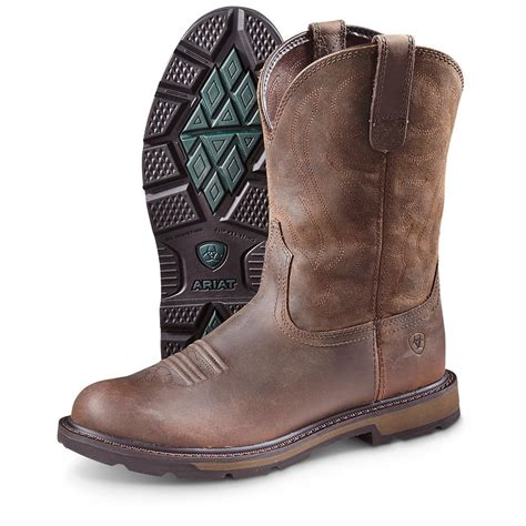 ariat boot ariat s groundbreaker pull on boots 593386 cowboy